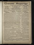 Cheese Reporter, Vol. 55, no. 1, Saturday, September 13, 1930