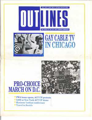 Outlines, The Voice of the Gay and Lesbian Community, Vol 2 No. 12, May 1989
