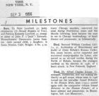 Milestones: Died - Dr. Alfred Charles Kinsey, 62