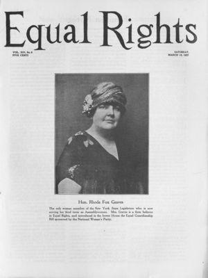 Equal Rights, Vol. 14, no. 06, March 19, 1927