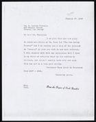 Copy of Letter from Ruth Benedict to O. Watson Flavelle, January 27, 1943
