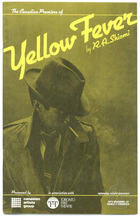 Playbill for the Canadian Première of Yellow Fever by Rick Shiomi, at the Toronto Free Theatre, Toronto, ON, 1983.