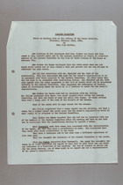 Notes on Meeting of the Liaison Committee of Women's International Organisations, 22 Feburary 1940
