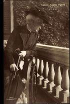 Ak Kaiserin Auguste Victoria im Haus Doorn, Rollstuhl, Liersch 7952 (b/w photo)