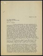 Letter from Ruth Benedict to Jesse Nusbaum, August 16, 1931