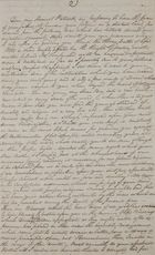 Copy of Letter from William Leslie to Patrick Leslie, October 16, 1834