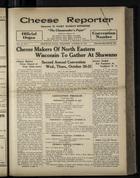 Cheese Reporter, Vol. 54, no. 7, Saturday, October 26, 1929