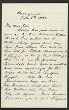 Letter from Rex Anderson to Edith Thompson, July 6, 1892