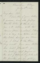 Letter from Charlotte Hearn to Edith Thompson, July 6, 1884