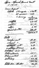 Handwritten Minutes of SPREE Special Board Meeting, January 14, 1977