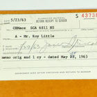 Address Slips to C. H. Mace, May 29, 1963