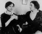 Helen Keller (1880 - 1968) born blind deaf mute, thanks to her governess Miss Macy she overcame this handicaps, studied and created in 1921 the American foundation for the blind, here c. 1920