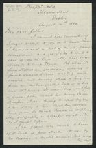 Letter from Samuel Winter Cooke to My dear father, August 14, 1884