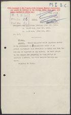 Deciphered Telegram from Sir J. Jordan to Foreign Office re: Yuan Shi-kai Near Death, June 6, 1916