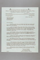 Letter from Evelyn Fox to Dorothy Kenyon, October 25, 1939