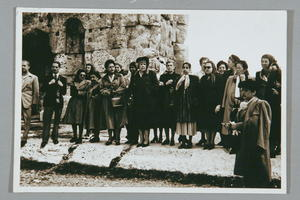 Dorothy Kenyon and Others on Tour During United Nations Commission on the Status of Women Meeting in Lebanon