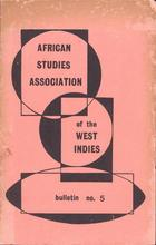 African Studies Association of the West Indies, Bulletin no. 5, December 1972