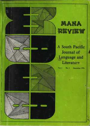 MANA: A South Pacific Journal of Language and Literature, Vol. 1, No. 2
