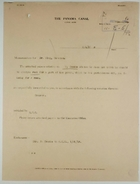 Cover Memo from William R. Grove to John M. King re: F. Crooks Rental Charges, February 2, 1917
