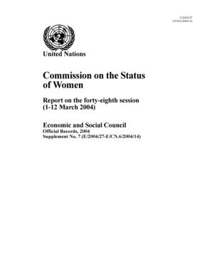 Report on the 48th Session, New York, 1-12 March 2004