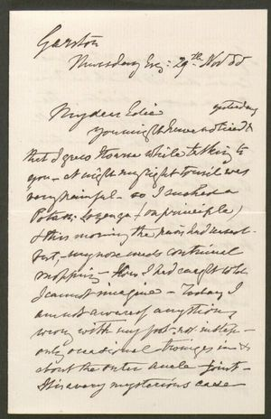 Letter to Edith Thompson, November 29, 1888