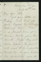 Letter from Charlotte Hearn to Edith Thompson, July 27, 1884