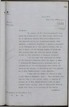 Copy of Letter from E. Baring to Marquis of Salisbury re: Legal Residence of Miss Julia Chamberlaine, Jamaica, June 8, 1892