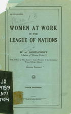Women At Work In the League of Nations