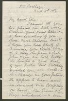Letter from Annie F. Howitt to Edith Thompson, March 15, 1887