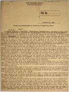 Excerpt from Memorandum of Conference of Department Heads, January 20, 1934