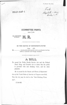 92d Congress 2d Session A Bill To Amend the Public Health Service Act and the Federal Food, Drug, and Cosmetic Act to Assure that the Public is Provided with Safe Drinking Water, and for Other Purposes