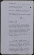 Collection of Notes re: Dr. Harold A. Moody and League of Coloured Peoples, June 1940