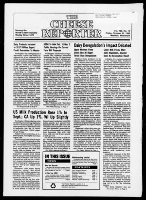 Cheese Reporter, Vol. 120, no. 14, October 20, 1995