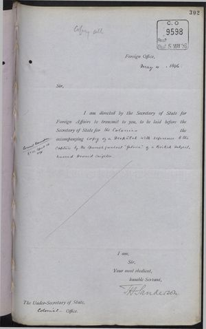 Correspondence re: Capture by Spanish Gunboat