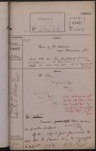 Correspondence Cover Sheet re: Claim of J. A. Astwood Against Dominican Government, December 13, 1907