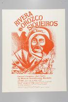 Announcement Poster for Rivera Orozco Siqueiros