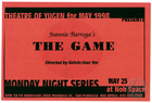Flyer for Theatre of Yugen, featuring Game! by Jeannie Barroga, staged at Noh Space, San Francisco, CA, May 26, 1998.
