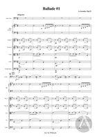 Ballade No. 1, arranged for Solo Cello and String Orchestra, Op. 12/1, E Minor
