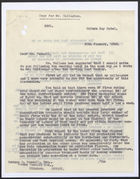 Memo from John Corbett to Mr. Pascall re: Concentration Scheme, January 30, 1942