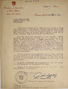Letter from Jose M. Vasquez Diaz to George W. Green, September 25, 1926