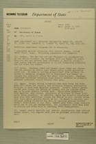 Telegram from William E. Cole, Jr. in Jerusalem to Secretary of State, April 1, 1955