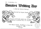 Postcard for Donato's Wedding Day by Jeannie Barroga, staged at the People's Theater, Fort Mason Center, San Francisco, CA, October 4, 1983.
