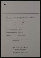 Translation of Patent Specification or Claims: Motor Vehicle Adapted for Disabled Driver