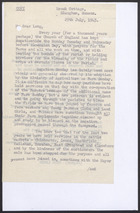 Copy of Letter from Hugh Lewen to Mr. Long, July 29, 1945