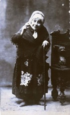 Photograph of an Unidentified Actress in the Villalongín Company.
