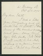 Letter from M. Thompson to Edith Thompson, October 31, 1895