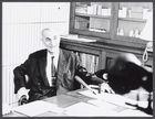 Professor Kastler (Alfred, Nobel Prize Winner) in His Office During an Interview