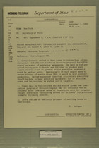 Telegram from Francis T. P. Plimpton in New York to Secretary of State, September 5, 1963