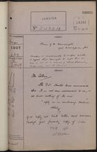 Correspondence Cover Sheet re: Claim of W. Wainwright Against Nicaraguan Government, July 9, 1907