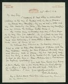 Letter from Robert Anderson to Edith Thompson, April 24, 1912